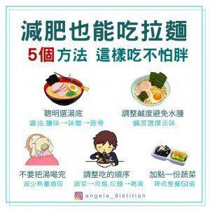 拉麵熱量 怎麼吃不會胖