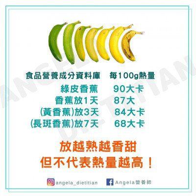 香蕉熱量比一比